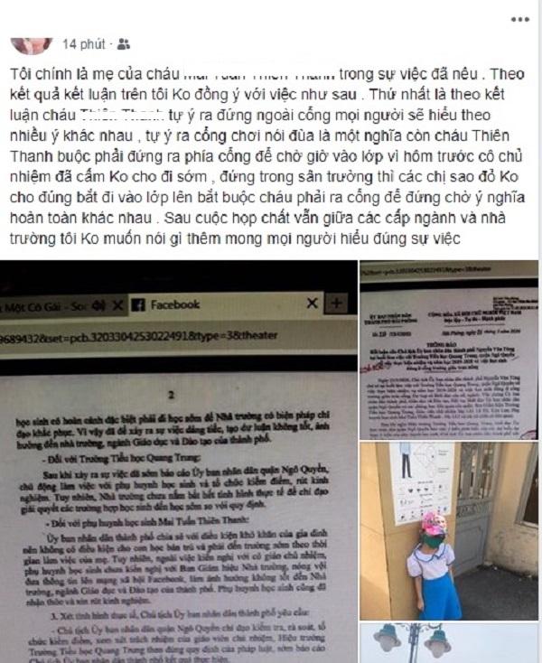 Ảnh chụp màn hình chia sẻ của M.T.M sáng ngày 22/5 (Nguồn: Facebook M.T.M)