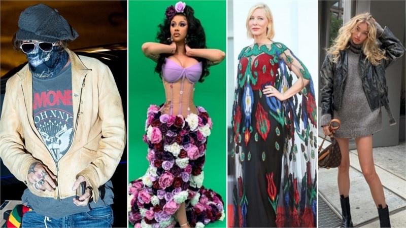 Điểmstylesao US-UK tuần qua: Johnny Depp 'hầm hố', Cate Blanchett hóa 'chim công' còn Cardi B thành 'nữ hoàng hoa'